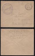 """VERRIERES LE BUISSON - SEINE & OISE - ESSONNE / 1919 LETTRE FM """"DEPOT D'ALSACIENS - LORRAINS  (ref 6670) - Frankreich"""
