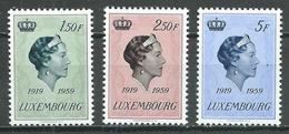Luxembourg YT N°559/561 Grande-Duchesse Charlotte Neuf ** - Luxemburg