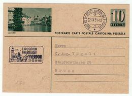 Suisse //Schweiz//Svizzera// Switzerland // Entier Postaux // Entier Postal (image Luzern) BPA Yverdon Le 22.09.1951 - Interi Postali