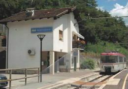 669 Treno TT - EL 01 Stanga-TIBB Stazione Di Mostizzolo Trento Railroad Train Railways FS - Treni