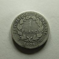 France 1 Franc 1808 W Silver - France
