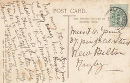 Postcard Genealogy Miss Young 57 Pinfold Street New Bilton Rugby PU 1906 My Ref  B13203 - Genealogy