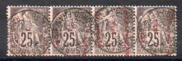 CONGO - Fiscal - Bande De 4 - Congo Français (1891-1960)