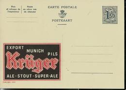 Publibel Neuve N° 1531 ( Bier - Bière; KRÜGER  Export Munich Pils) - Entiers Postaux