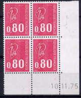 1816D75** - MARIANNE DE BECQUET - Hoekdatums