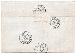 1877 - Au Dos  Cachet Convoyeur  BREST  à PARIS & PARIS à NANTES Et Devant Cachet Gare De ST BRIEUC / Type Sage 25c Bleu - Postmark Collection (Covers)