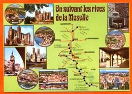 88 Vosges EN SUIVANT LES RIVES DE LA MOSELLE Bussang Le Thillot Chatel Remiremont Metz - Francia