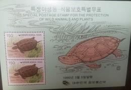 O) 1996 KOREA, PROTECTION OF WILD ANIMALS AND PLANTAS,-PROTECTION OF NATURE GEOCHEMYS.SCT 1865, MNH - Korea (...-1945)