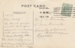 Postcard Genealogy Dr Heinke C/O Miss Heinke ? Park School Henleaze Bristol PU 1909 My Ref  B13204 - Genealogy