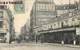 PARIS RUE D'AUTEUIL PRISE DU VIADUC 75 - Arrondissement: 14