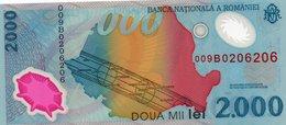 ROMANIA=1999     2.000 LEI    P-111a  Polymer     UNC - Romania
