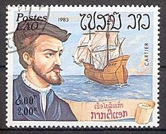 Laos Mi.Nr. 677 O Seefahrer Jacques Cartier (2019155) - Laos