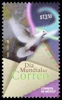 2016 MÉXICO Día Mundial Del Correo, PALOMA, MNH World Post Day, Dove, Bird,  ENVELOPE - Mexico