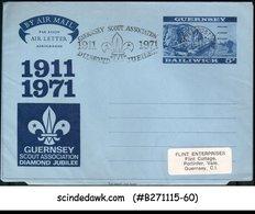 BAILIWICK OF GUERNSEY - 1971 GUERNSEY SCOUT ASSOCIATION DIAMOND JUBILEE AEROGRAM - Unclassified
