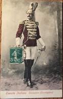 CPA, Esercito Italiano, Corazziere ( Trombettiere), écrite En 1907? - Italia