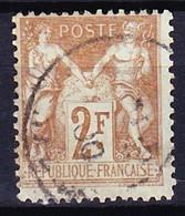 FRANCE TYPE SAGE II 1898-1900 YT N° 105 Obl. - 1898-1900 Sage (Type III)