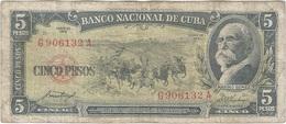 Cuba 5 Pesos 1958 Pk 91 A Ref 609-12 - Cuba