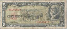 Cuba 5 Pesos 1958 Pk 91 A Ref 609-15 - Cuba