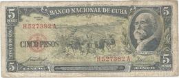 Cuba 5 Pesos 1958 Pk 91 A Ref 609-17 - Cuba