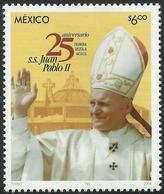 2004   25 Aniversario De La Primera Visita A México   Juan Pablo II, POPE JOHN PAUL Ll Stamp MNH - México