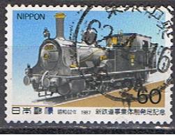 JAPON 137 // MI 1732 //  RAILWAYS // 1987 - Usados