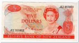 NEW ZEALAND,5 DOLLARS,1989-92,P.171c,aVF - New Zealand