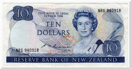 NEW ZEALAND,10 DOLLARS,1989-92,P.172c,aVF - Nuova Zelanda