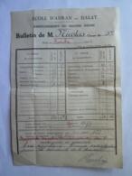 VIET-NAM DALAT  ECOLE D'ADRAN  Enseignement Du Second Degré  Bulletin Scolaire Nov 1943 - 8  Mai 2019-clas Let - Diploma & School Reports