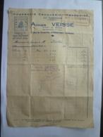 """FACTURE AUTOGRAPHE  PHARMACIE -DROGUERIE- FRANCAISE DU CAMBODGE  """"A VEISSE"""" PHNOM-PENH 1942 -  Mai 2019-clas Let - Factures & Documents Commerciaux"""