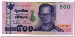 THAILAND,500 BAHT,2001,P.107,VF - Tailandia