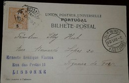 O) 1905 PORTUGAL, KING CARLOS SCT 67 5r Orange - VALUE IN BLACK, UPU- POSTAL TICKET- XF - 1892-1898 : D.Carlos I
