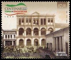 2014 México Centenary Of The Battle Of Zacatecas, Horse Soldiers Revolution / THEATER CALDERON Stamp MNH - México