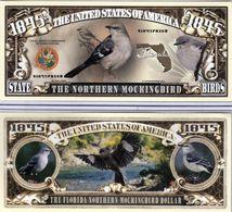 USA - FANTASY NOTE -  FLORIDA , THE  NORTHERN  MOCKINGBIRD  - UNC - Other