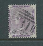 Sierra Leone 1876 QV 6d Violet Used, Tiny Thin - Sierra Leone (...-1960)