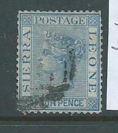 Sierra Leone 1876 QV 4d Blue Attractive Used , Couple Shorter Perfs - Sierra Leone (...-1960)