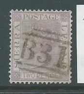 Sierra Leone 1876 QV 2d Magenta FU - Sierra Leone (...-1960)