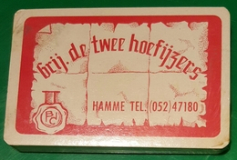 Jeux De Cartes Complet Brij. De Twee Hoefijzers HAMME  (rouge) - 32 Karten