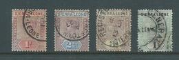 Sierra Leone 1896 QV 4 Values 1/2d To 1 Shilling Used - Sierra Leone (...-1960)