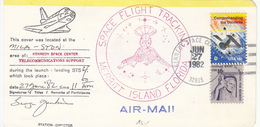 1981 USA  Space Shuttle  Columbia STS-4 Mission Tracking Station Commemorative Card - América Del Norte
