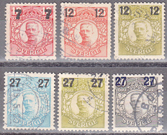 SWEDEN   SCOTT NO. 99-104    USED      YEAR  1918 - Schweden