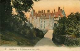 LANGEAIS  Le Chateau   Vu Du Parc      26   (scan Recto-verso)MA1939Bis - Langeais