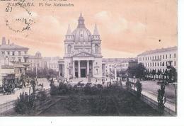Warsawa Eglise St Alexandre  Pour Tentsin Chine 16° Colonial Timbre N° YT 64 De Russie - Pologne
