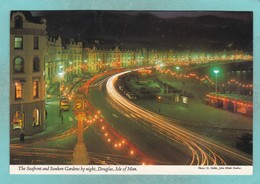 Small Post Card Of Douglas By Night,Isle Of Man,V79. - Isle Of Man