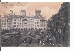 Warsawa  Place Du Marché Vieille Ville Pour Tentsin Chine 16° Colonial Timbre N° YT 64 De Russie - Pologne