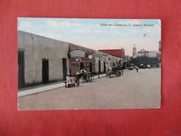 Calle Del Comercio Juarez  Mexico Has Stamp & Cancel     Ref 3327 - Mexico