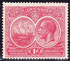 BERMUDA 1920KGV1d CarmineSG65MH - Bermuda