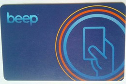 Beep Card  (re Loadable Card For Manila LRT/MRT Systems) - Metro