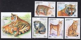 Azerbajan (Azerbaijan Azerbaïdjan) 1994. Wild Cats. Fauna. Mi# Bl.10 +  178-182  MNH - Aserbaidschan