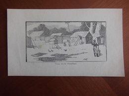 Madagascar Sainte-Marie: Document De 1890 Par Fernand Hue «Village De L'Ile Sainte-Marie». - Documents Historiques
