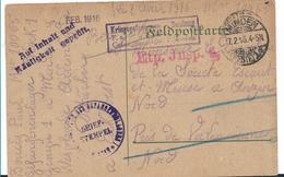 """Ger431 / DEUTSCHLAND -  Gefangenenpost Aus Dem Lager Minden """"Auf Inhalt Und Häufigkeit Geprüft"""" 1916 - Allemagne"""